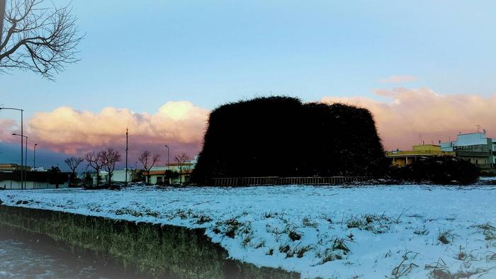 Neve, anche la Fòcara imbiancata