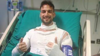 Inferno sulla A14 per esplosione autocisterna: ferito poliziotto salentino