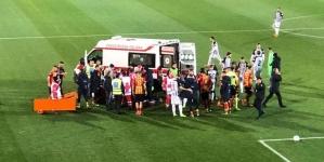 Lecce – Ascoli: Scavone perde conoscenza dopo scontro, gara rinviata