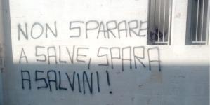 Scritta shock contro il ministro Salvini: indaga la Digos