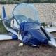 Piccolo aereo si schianta contro muretto a secco: 2 feriti